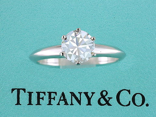 Tiffany & Co. GIA Certified 1.04ct Diamond Solitaire Platinum Engagement Ring $7,945