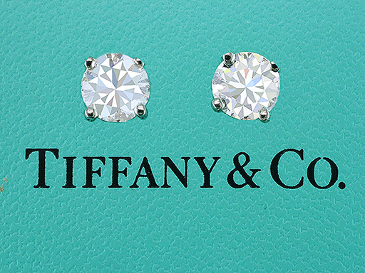 Tiffany & Co Earrings Round Brilliant Diamond Solitaire Studs 2.14ct F-VVS XXX $28,500