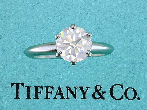 Tiffany & Co. Engagement Ring 1.40ct H-VVS2 Diamond Solitaire Certified Platinum $15,945