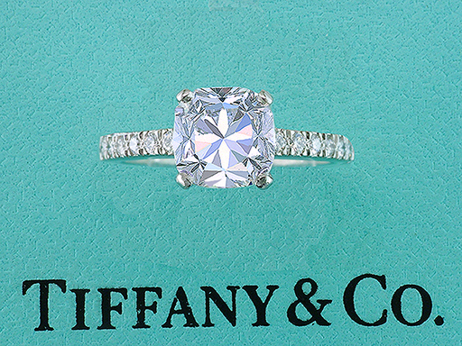 Tiffany & Co NOVO Diamond Platinum Engagement Ring 1.53ct H-VS1 $12,650