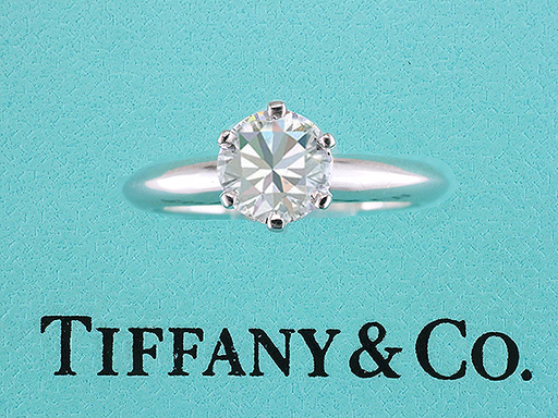 Tiffany & Co Solitaire Diamond Platinum Engagement Ring 1.10ct H-VS2 $8,950