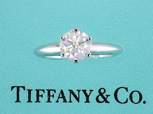 Tiffany & Co Engagement Ring Diamond Solitaire Platinum 1.01ct D - VS2 $11,845