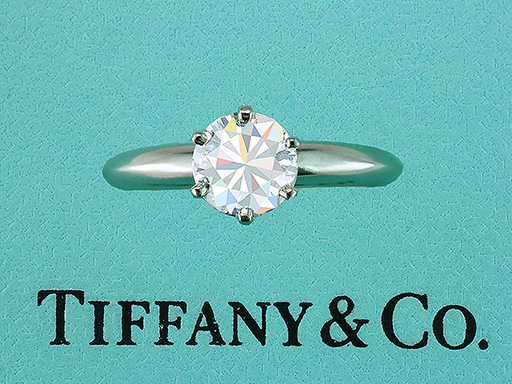 Tiffany & Co Diamond Solitaire Platinum 1.04ct H-VS1 Engagement Ring $8,950