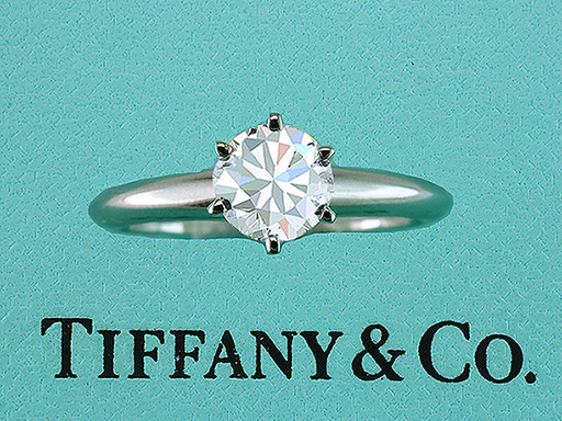 Tiffany & Co Engagement Ring Diamond Solitaire Platinum 1.10ct G-VS1 $10,950