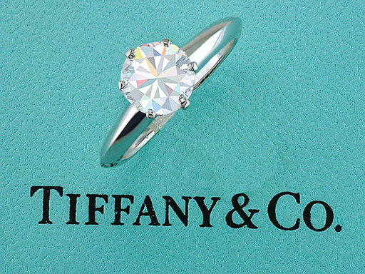Tiffany & Co Engagement Ring Diamond Solitaire GIA Certified Platinum 1.54ct $16,950