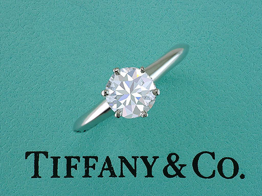 Tiffany & Co Engagement Ring Diamond Solitaire Platinum Cert. 1.04ct D-VS1 XXX $12,585