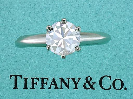 Tiffany & Co. Engagement Ring Diamond Solitaire Platinum 1.00ct H-VS1 XXX $7,950