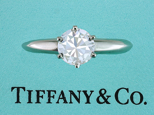 Tiffany & Co. Engagement Ring Diamond Solitaire Certified 1.19ct I-VS1 XXX Plat $10,200