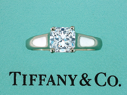 Tiffany & Co Lucida Platinum Engagement Ring Certified Diamond 1.05ct $7,950