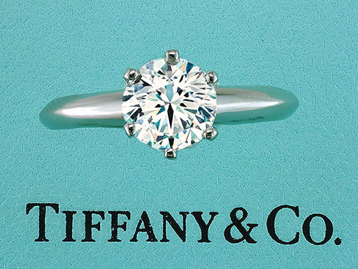 Tiffany & Co Engagement Ring Diamond Solitaire Certified 1.11ct I-VS2 Platinum $9,250