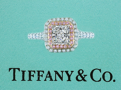 Tiffany & Co Engagement Ring Soleste Pink Diamonds 1.65cttw F/VVS1 Platinum $18,500