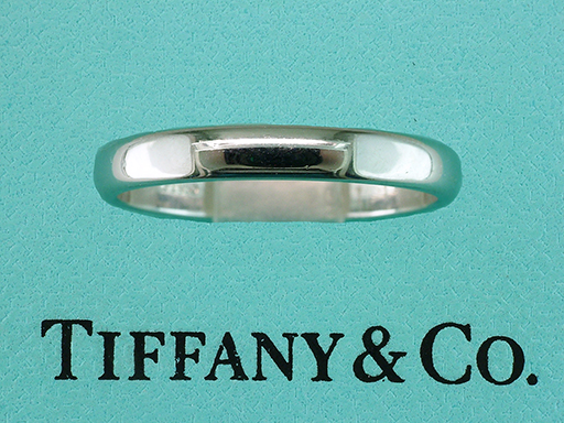 Tiffany & Co. Lucida Platinum Wedding Band/Anniversary Ring $785