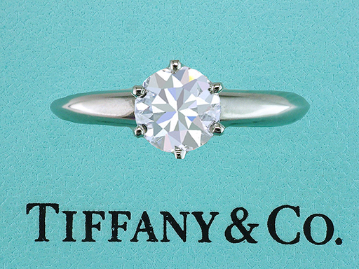 Tiffany & Co. Engagement Ring  .70ct F-VS1 Diamond Platinum $4,350