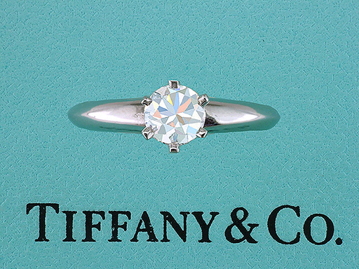 Tiffany & Co Solitaire Diamond 1/2ct  Platinum Engagement Ring G-VS2 XXX $2,950