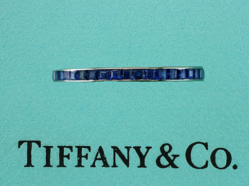 Tiffany & Co. Vintage Antique 1960's Sapphire Eternity Anniversary Band/Ring $1,850