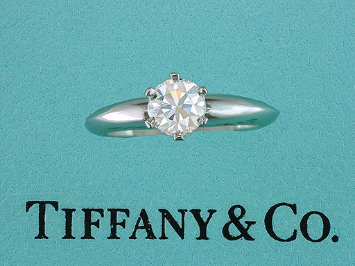 Tiffany & Co. Engagement Ring Diamond Solitaire Plat Certified .64ct F-VS1 XXX $3,950