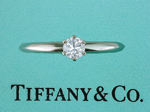 Tiffany & Co Engagement Ring Diamond Solitaire Platinum .22ct D-VVS XXX $780