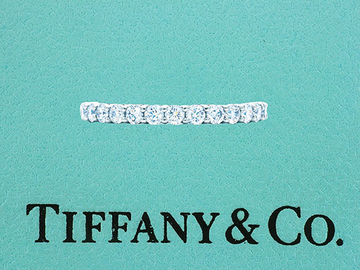 Tiffany & Co. Embrace Eternity Ring .85ct Diamond Platinum $4,900