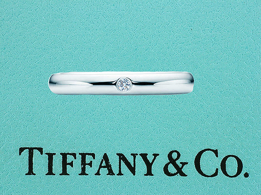 Tiffany & Co. Elsa Peretti Diamond Platinum Wedding/Anniversary Ring Band $785