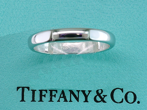 Tiffany & Co. Band Platinum Wedding/Anniversary Ring $395