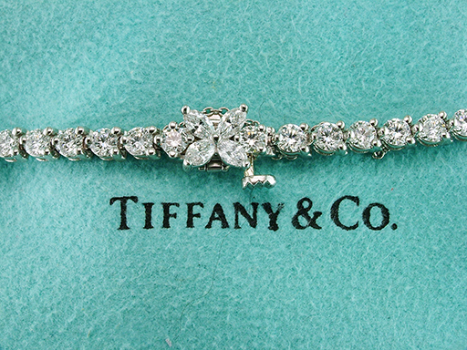 Tiffany & Co Diamond Line Tennis Bracelet Victoria 6.53ct Platinum PT950 $16,750