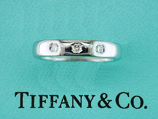 Tiffany & Co. Lucida Diamond Platinum Wedding Band / Anniversary Ring $1,650