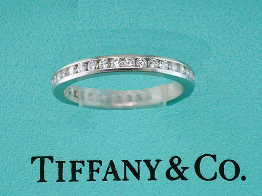 Tiffany & Co. .52ct Diamond Platinum Eternity Wedding Band / Anniversary Ring $1,985