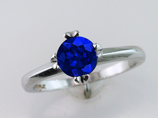 Antique Sapphire Engagement Ring Solitaire 1.02ct Platinum Art Deco Vintage $1,185