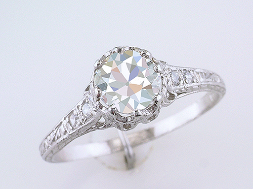 Vintage Diamond Engagement Ring GIA 1.20ct Platinum Art Deco Near Mint Antique $6,600