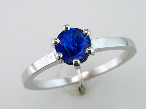 Vintage Sapphire Engagement Ring Platinum Solitaire  1.00ct Antique Art Deco $1,185