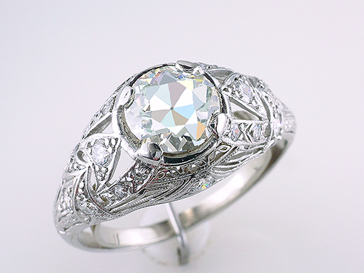 Vintage Diamond Engagement Ring 2.16ct GIA Certified Platinum Antique Art Deco $8,950