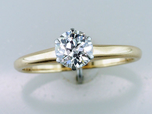 Vintage Diamond Engagement Ring Solitaire 14K Yellow Gold Antique $1,185