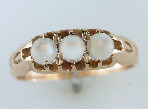Vintage Antique Moonstone Cocktail Ring 14K Yellow Gold Victorian $385