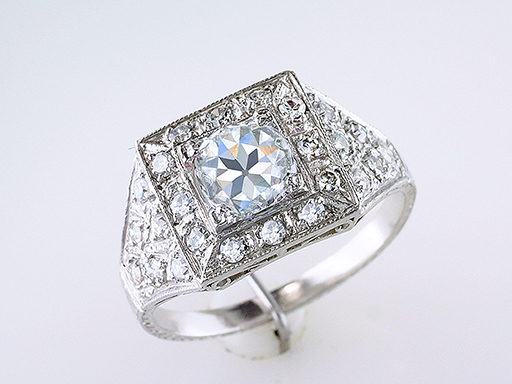 Antique Diamond Engagement Ring GIA Certified Platinum 1.78ct Antique Art Deco $7,950