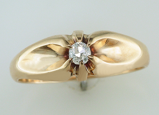 Vintage Antique Diamond Engagement Ring 14K Yellow Gold Victorian $385
