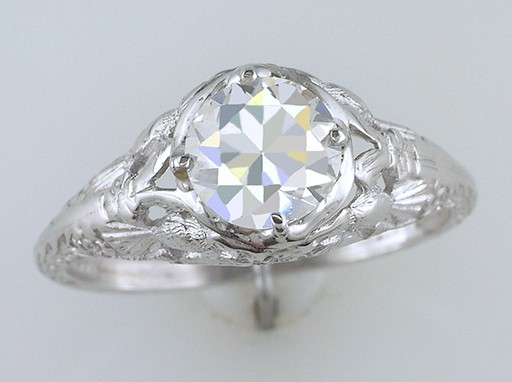 Antique Diamond Engagement Ring Love Bird GIA Certified 1ct 18K Gold Deco $6,900