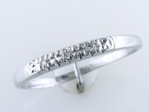 Vintage Diamond Wedding Ring Band Platinum Antique Art