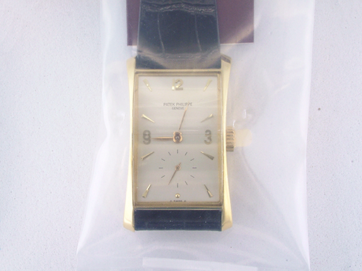 Patek Philippe Hour Glass 1593 Manual Wind 18K Original Band Vintage Watch $21,900