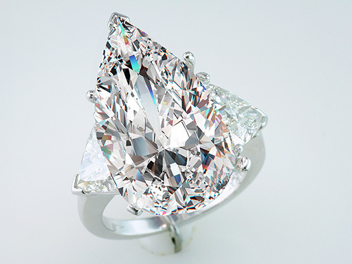 Diamond Engagement Ring GIA Certified 14.45cttw Pear Cut J-VS2 Platinum $279,000