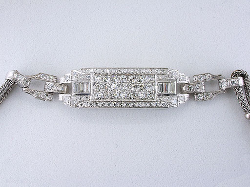 Vintage Diamond Bracelet 2.12ct F-VVS Custom Antique Art Deco $2,950