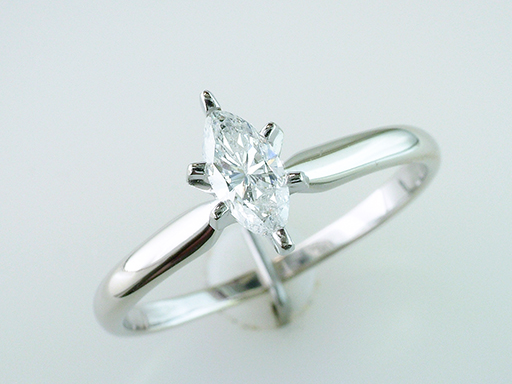Diamond Engagement Wedding Ring Solitaire .60ct Marquis 14K $585
