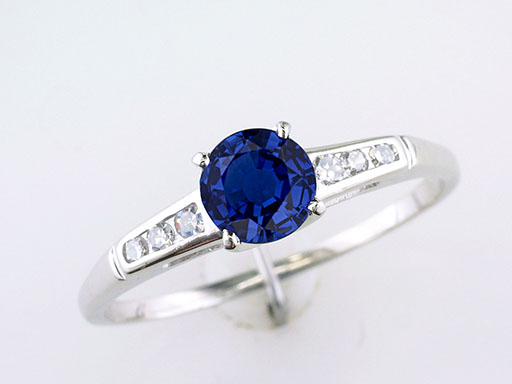 Vintage Sapphire Diamond Engagement Ring 1 Carat 14K Antique Art Deco $485